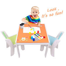 Labebe Wooden Activity Table Chair Set, Orange Owl Toddler for 1-5 Years, Baby Set/Toddler Play Table/Baby Table/Kid Cover/Kid Amazon.com: