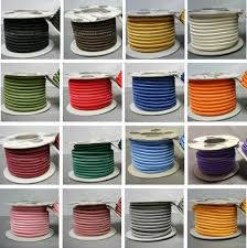 diy cable lighting. ROUND 3 Core Braided Fabric Cable Lighting Lamp Flex Vintage - Choice Of Colour Diy