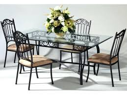 wrought iron dining chair wrought iron glass top dining table chair set antique taupe white wrought iron dining table and chairs