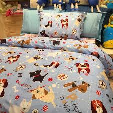 kids bedding sets. 3-Piece Kids Bedding Set / Puppy Family (Duvet Cover, Bed Sheet, Pillowcase) - QUEEN SIZE BEDDING SET Sets