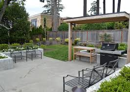 modern concrete patio. Medina Modern Concrete Patio And Planters_Sublime Garden Design After I