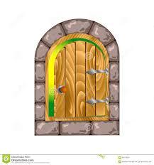 Half open door drawing Illustration Halfopen Door On The Iron Hinges Dreamstimecom Semicircular Wooden Door In Stone House Stock Vector