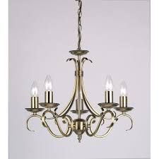 barney 5 light candle style chandelier