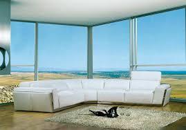 modern white sectional. Modern White Bonded Leather Sofa VG010 Sectional N