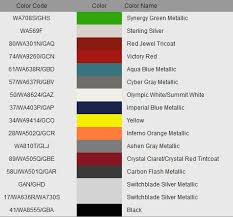 2013 Gm Color Chart Gm Free Download Printable Image Database
