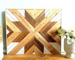 natural wall art chevron wood decor patterns reclaimed canvas