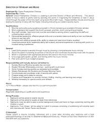 Contemporary Worship Leader Sample Resume Style Editor Sample