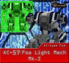 Ac 57 Foa Light Mech Mk I A Lego Creation By Ariklego The