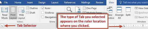 type of tab create tabs in word