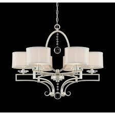 savoy house rosendal 6 light chandelier in silver sparkle