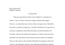 essay about macbeth a tragic hero macbeth tragic hero field of themes entrance