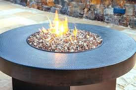 appealing round gas fire pit table incredible copper hammered cover covers 42 x