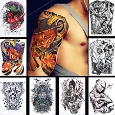 8ks ženy Muži Květina Noha Body Art Tetování Nálepka Dočasný Hrozné