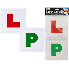 Details About 4pc Magnetic L P Secure Sign Plates New Car Learner Driver Pass Passed Safe