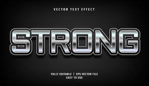 Text Effect Strong Text Style Graphic By Arroyan Art Creative Fabrica