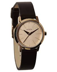 nixon kenzi rose gold brown leather band quartz las watch a398 1890