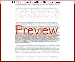 Functional Health Patterns 11 Functional Health Patterns Essay Research Paper Service