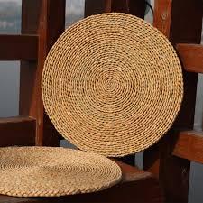 <b>Set 2pcs</b> Eco-friendly Straw Woven Seat <b>Cushion</b> Pad Floor Mat ...