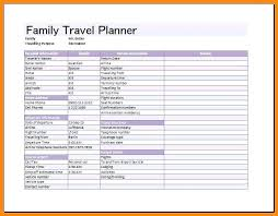Sample Itinerary Forms Excel Travel Itinerary Template Planner Sample Mediaschool Info
