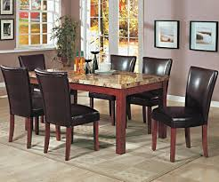 telegraph contemporary marble top dining table