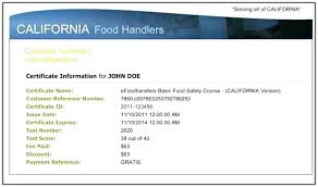 Food Safety Course Answers Food Handler Card Handlers Nevada New Home Examples Sample