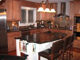 Cushion Flooring Kitchen Brown Island Also Cabinetry With Panel Appliances Also White