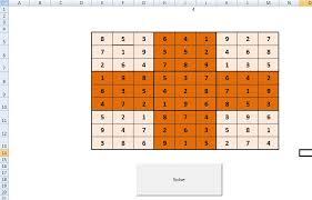 Vba Excel Sudoku Solver Excel Macro