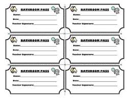 Hallway Pass Template 25 Images Of Bathroom Hall Pass Template Bfegy Com