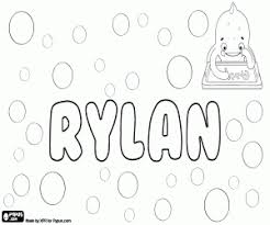 Boy Names With R Coloring Pages Printable Games