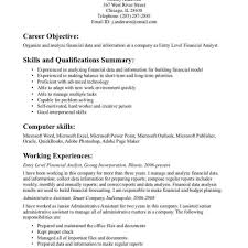 Resume Objective Examples Bright Idea Entry Level Resume Objective Examples 10000 Sample 100St In 68