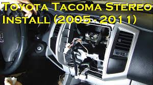 toyota tacoma stereo install bluetooth 2005 to 2011