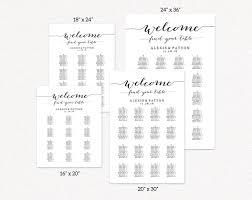 Wedding Alphabetical Seating Chart Wedding Seating Chart Alphabetical Wedding Seating Chart