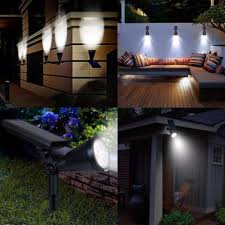 Patio Lights In Ground Ausida Led Solar Spotlight Outdoor Waterproof Wall Night