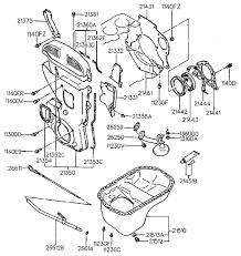 belt cover oil pan for 1989 hyundai sonata hyundai parts deal 1989 hyundai sonata belt cover oil pan diagram 20215b11