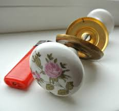 Vintage Ceramic Door Knobs Set Vintage Porcelain Door Handles Pulls
