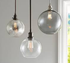 pb classic glass globe pendant pottery barn regarding clear light plan 14