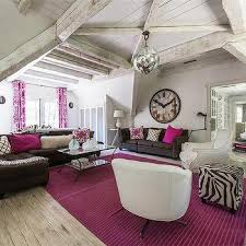 pink and brown living rooms