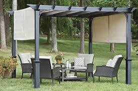 garden canopy. Garden Treasures 10\u0027 Pergola Canopy With