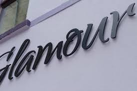 glamour listowel raised 3d lettering