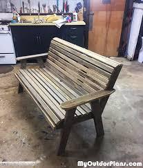 diy outdoor garden bench