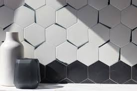 kiss dip hexagon collection available through architectural ceramics 6 hex shown in the monet colorway image via encoreceramics com