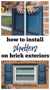 how to hang shutters on brick a step by step guide to installing vinyl shutters