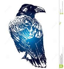 Raven Gothic Sketch Of Tattoo Stock Illustration Illustration