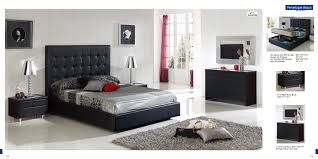 King Size Modern Bedroom Sets Modern Bedroom Sets Marquee Leather Platform Bed With Led Lights