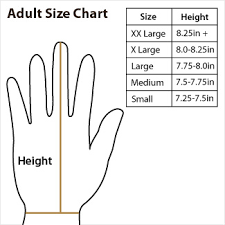 Baseball Glove Chart Annex Adult Batting Gloves
