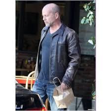 Surrogates Movie Movie Surrogates Bruce Willis Tom Greer Leather Jacket