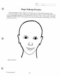 theatrical makeup worksheet