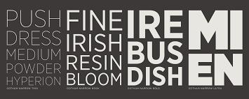 Fonts Posters Whats Inside Gotham Narrow Fonts Hoefler Co