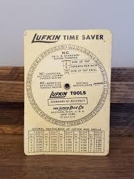Decimal Conversion Chart Stunning Lufkin Time Saver Conversion Chart Screw Threads Decimal Etsy