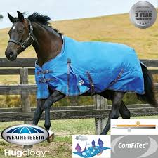 weatherbeeta comfitec classic standard neck medium turnout rug bright blue grey pink 6ft 3inch at goyt mill saddlery goytmill com